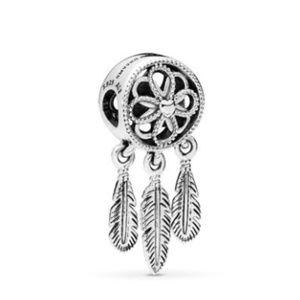 Pandora Jewelry - Pandora - Black Leather Choker and Charm